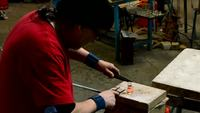 Glass artisan workshop