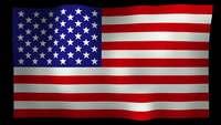 American Flag 4K Motion Loop Stock Video