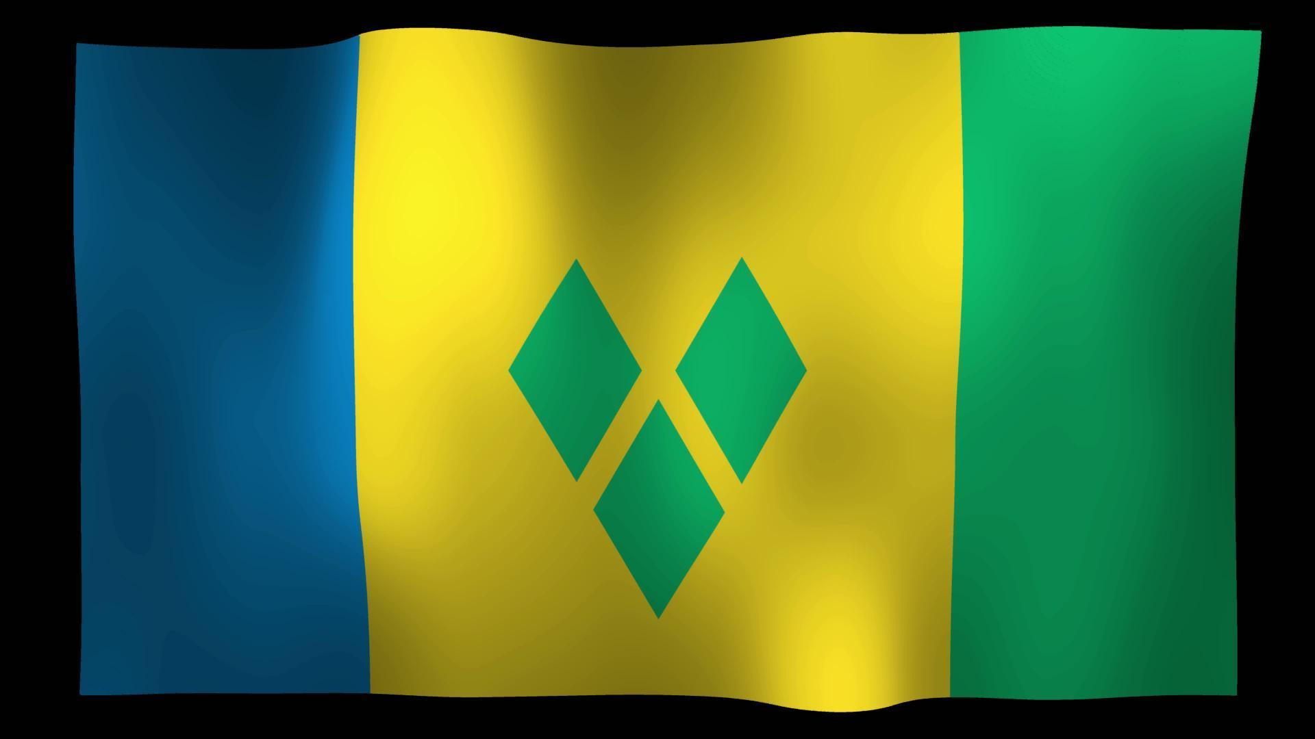 Free Saint Vincent and the Grenadines Flag 4K Motion Loop