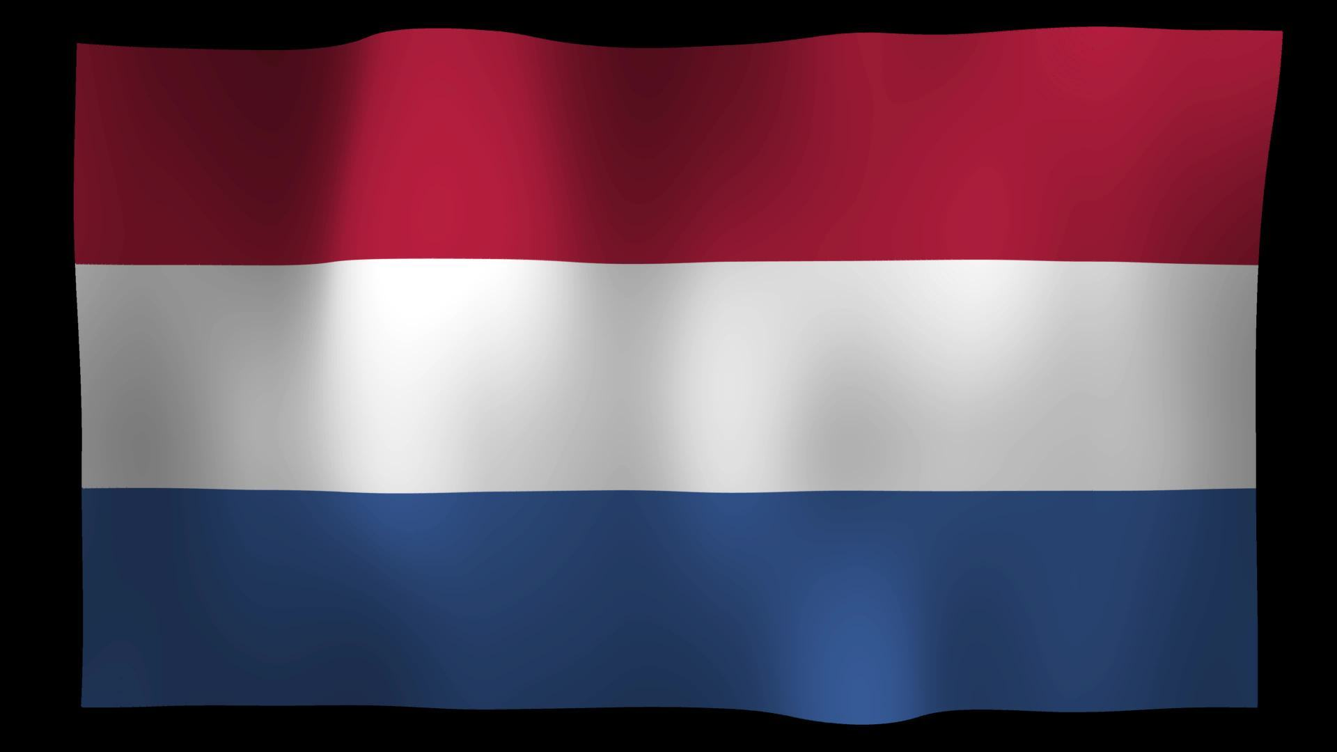 free netherlands flag 4k motion loop stock video