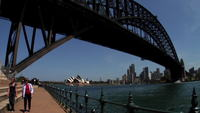 Sydney bridge skyline