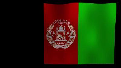 Afghanistan Flag 4K Motion Loop After Effects 模板