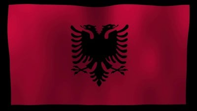 Albania Flag 4K Motion Loop After Effects 模板