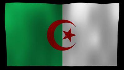 Algeria Flag 4K Motion Loop After Effects 模板