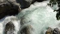 Water Rapids in Gilgit Pakistan.