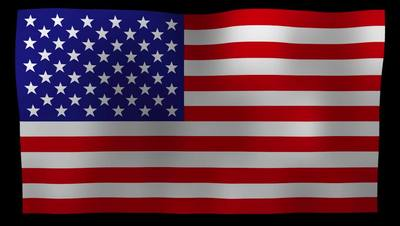 American Flag 4K Motion Loop After Effects 模板
