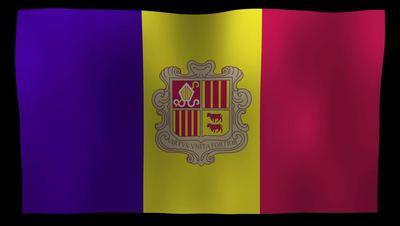 Andorra Flag 4K Motion Loop After Effects 模板
