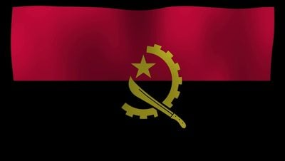 Angola Flag 4K Motion Loop After Effects 模板