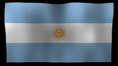 Argentina Flag 4K Motion Loop After Effects 模板