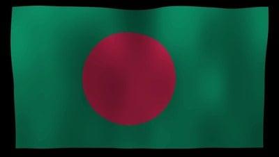 Bangladesh Flag 4K Motion Loop After Effects 模板