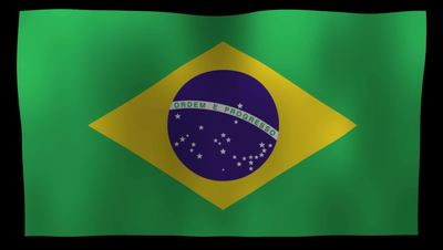 Brazilian Flag 4K Motion Loop After Effects 模板