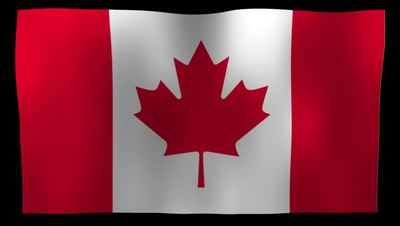 Canadian Flag 4K Motion Loop After Effects 模板