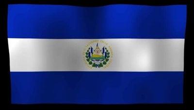El Salvador Flag 4K Motion Loop After Effects 模板