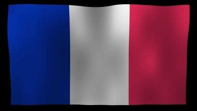 France Flag 4K Motion Loop After Effects 模板