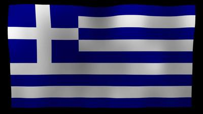 Greek Flag 4K Motion Loop After Effects 模板