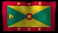 Grenada flag 4k motion loop after effects template