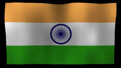 India Flag 4K Motion Loop After Effects 模板