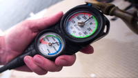 Divers air pressure gauge