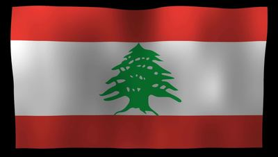 Lebanon Flag 4K Motion Loop After Effects 模板