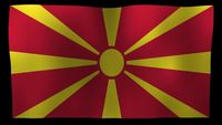Macedonia Flag 4K Motion Loop After Effects Plantilla
