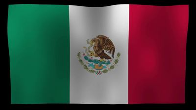 Mexico Flag 4K Motion Loop After Effects 模板