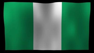 Nigeria Flag 4K Motion Loop After Effects 模板