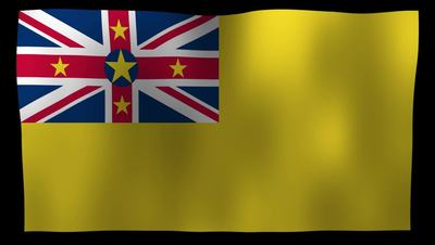 Niue Flag 4K Motion Loop After Effects 模板