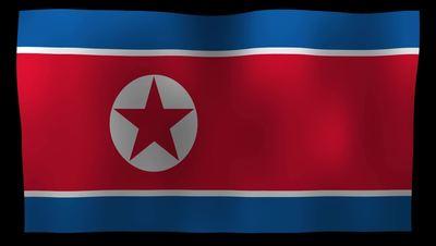 North Korea Flag 4K Motion Loop After Effects 模板