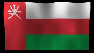 Oman Flag 4K Motion Loop After Effects 模板