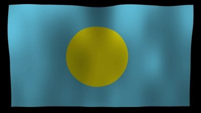 Palau Flag 4K Motion Loop After Effects 模板