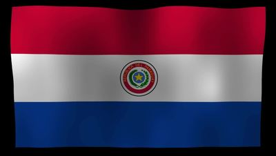 Paraguay Flag 4K Motion Loop After Effects 模板