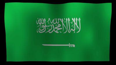 Saudi Arabia Flag 4K Motion Loop After Effects 模板