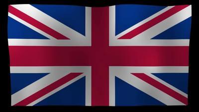 United Kingdom Flag 4K Motion Loop After Effects 模板