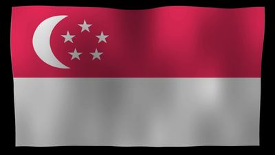 Singapore Flag 4K Motion Loop After Effects 模板