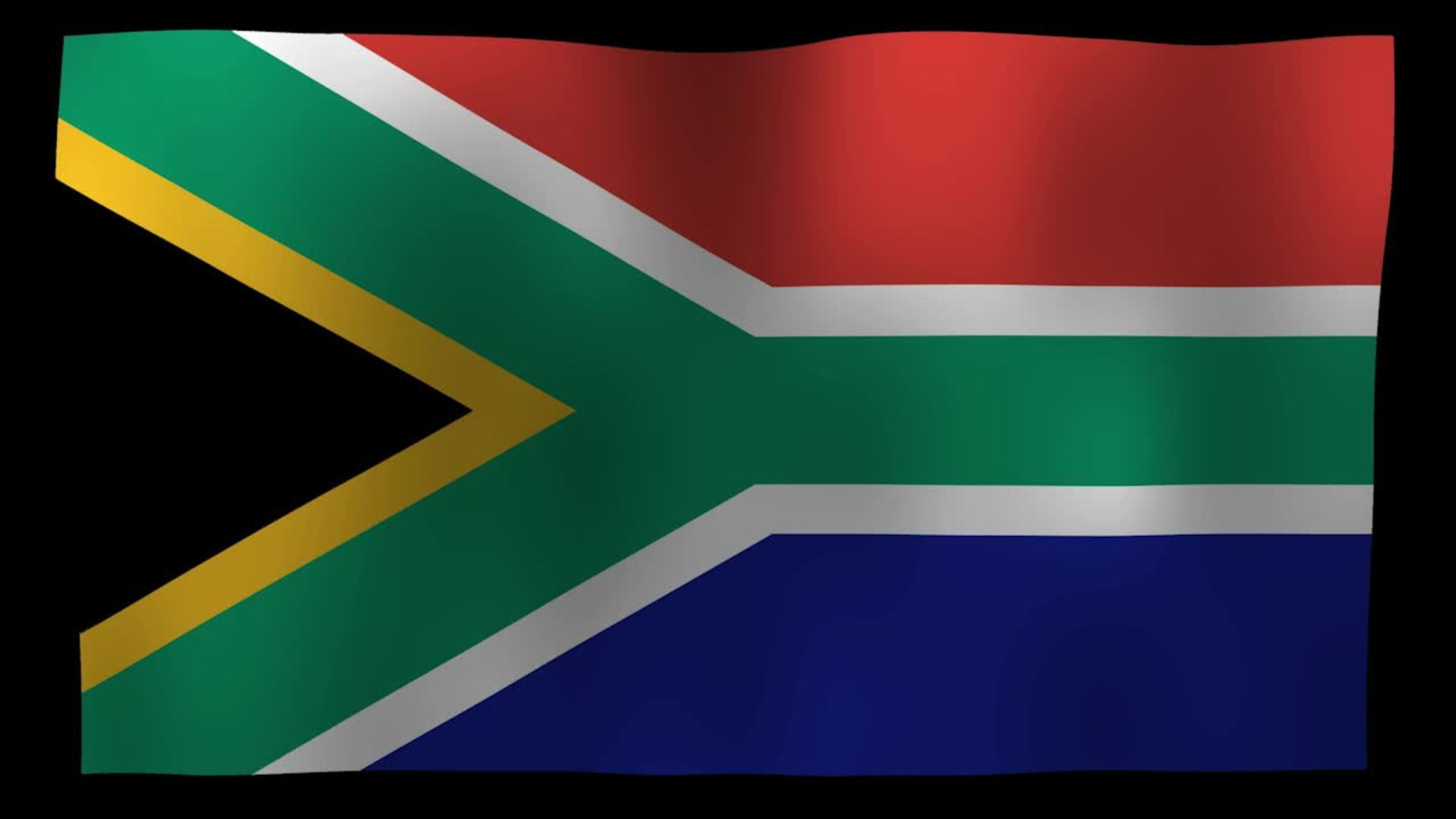 South Africa Flag 4K Motion Loop After Effects Template  Free HD
