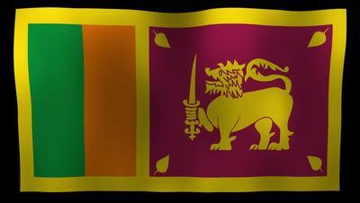 Sri Lanka Flag 4K Motion Loop After Effects 模板