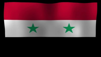 Syria Flag 4K Motion Loop After Effects 模板