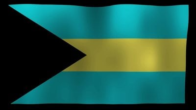 The Bahamas Flag 4K Motion Loop After Effects 模板