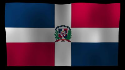The Dominican Republic Flag 4K Motion Loop After Effects 模板