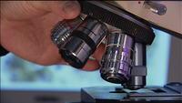 Rotating a microscope lens