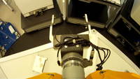 POV av robotic lab arm