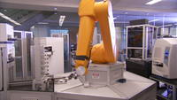 Arm robotica in een lab