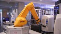 Biomechanic lab arm in use