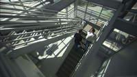 Businessmen-walk-up-stairs