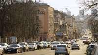 Tráfico en Kiev