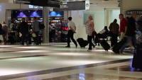 Gente, ambulante, aeropuerto