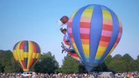 Hot air balloon show
