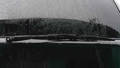 Rain and car