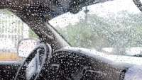 raindrops in car window