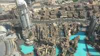 Aerial View of Dubai Condos and Hotels 4k